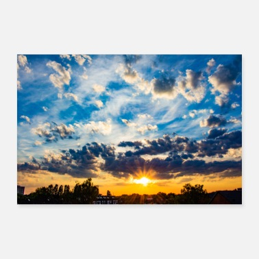 Sunset with clouds poster - Poster