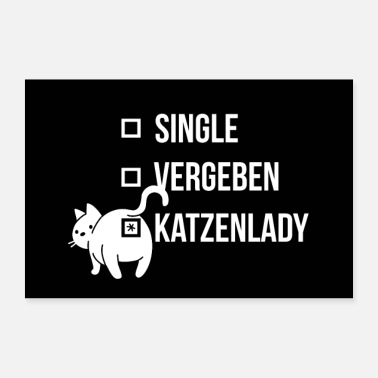 Cat Cat lady single, forgiven shirt catlady gift - Poster
