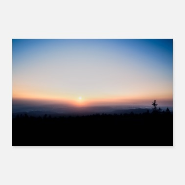 Saxony-anhalt Sunrise in the Harz - Poster