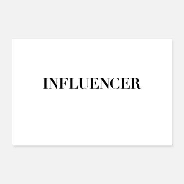 Statement INFLUENCER Statement Poster - Poster
