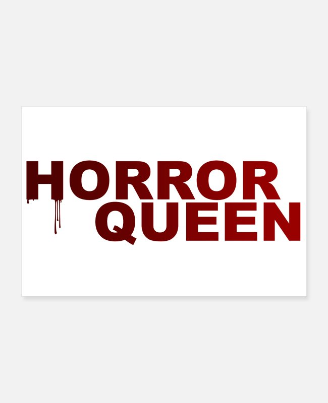 Red Posters - Horror Queen Bloody Blood gift Happy Halloween - Posters white