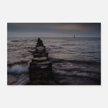 North Sea At night on the North Sea - Poster