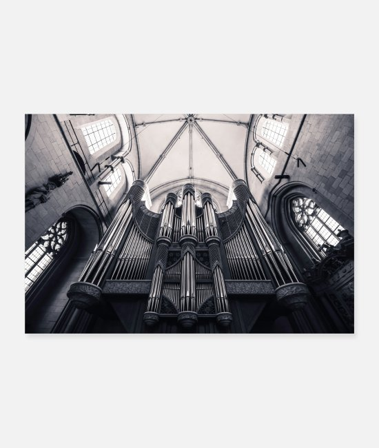 Roof Posters - St. Paul's Cathedral in Munster - church organ - Posters white