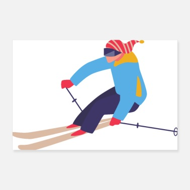 Skis Skiing skiing winter sports gift idea - Poster