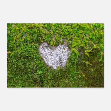 Heart in moss love - Poster