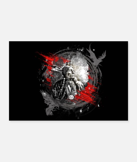Usa Posters - Indian chief modern - Posters white