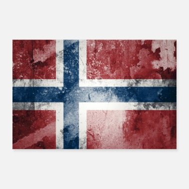 Skandinavia Norges flagg - Poster