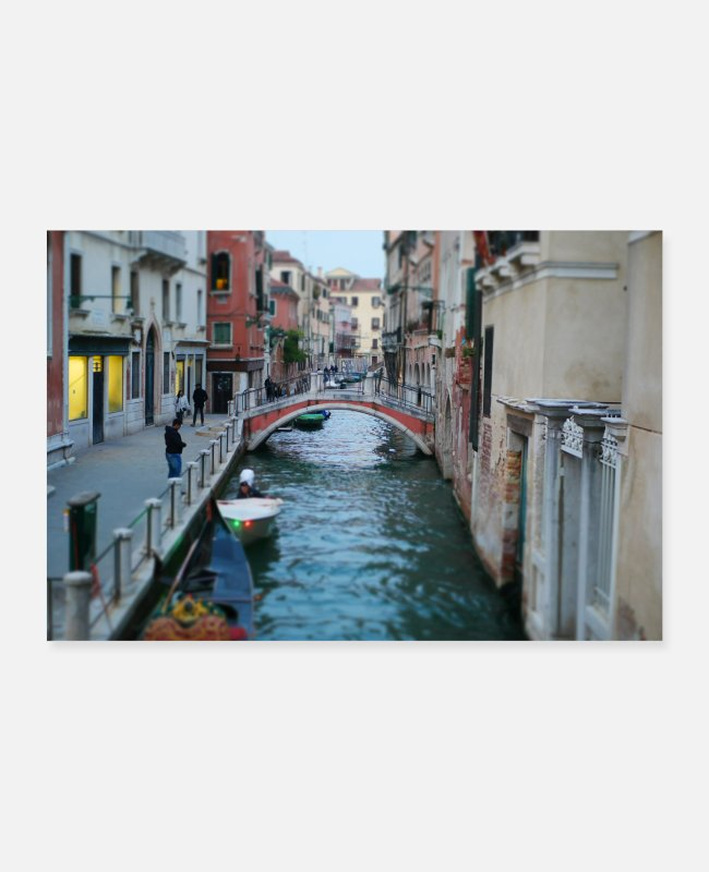 Water Posters - Venice - canal - Posters white