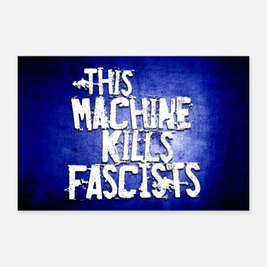 Country Cette machine tue les fascistes - Folk Punk Poster - Poster