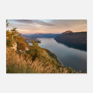 View End of the day on Lake Bourget - Poster