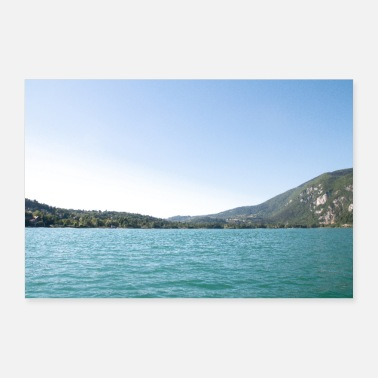 Aiguebelette lake in Savoy - Poster