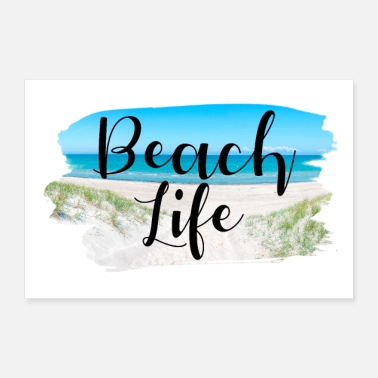 Holiday Destination Beach Life Lettering summer sun holiday - Poster