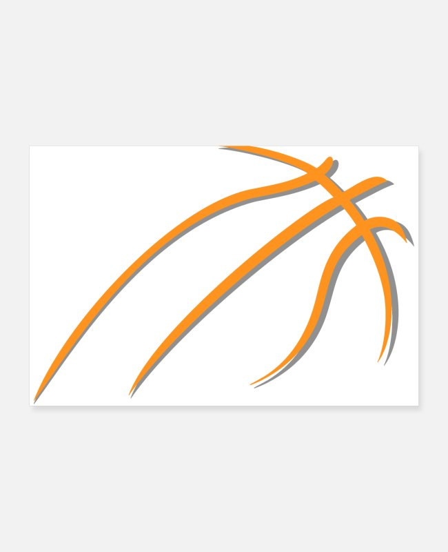 Play Posters - basketball - Posters white