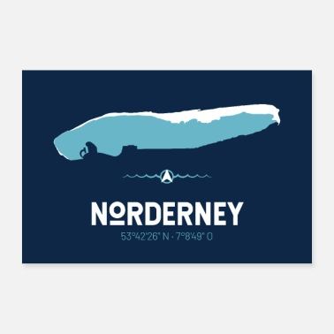 East Frisia Norderney | Poster design | map - Poster