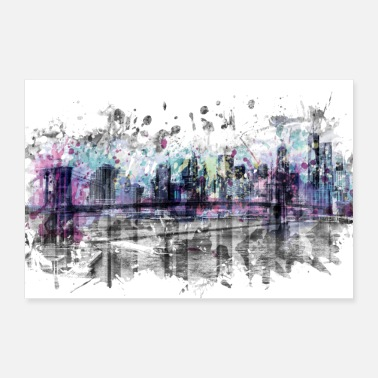 Art moderne NEW YORK CITY Skyline | Éclaboussures - Poster