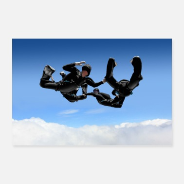 Skydiving skydivers - Poster