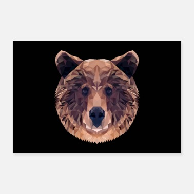 Animal BROWN BEAR ANIMAL LOVE GIFT NATURE ANIMAL GUARD FOREST - Poster