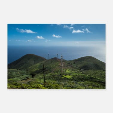 Wind Wind turbines on El Hierro - 30x20 cm Poster