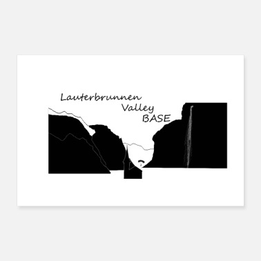 Basse Lauterbrunnen Valley Base - Poster 30 x 20 cm