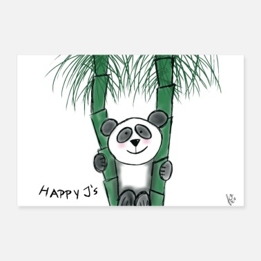 Mummy Happy J's Panda Bear - Poster 30x20 cm