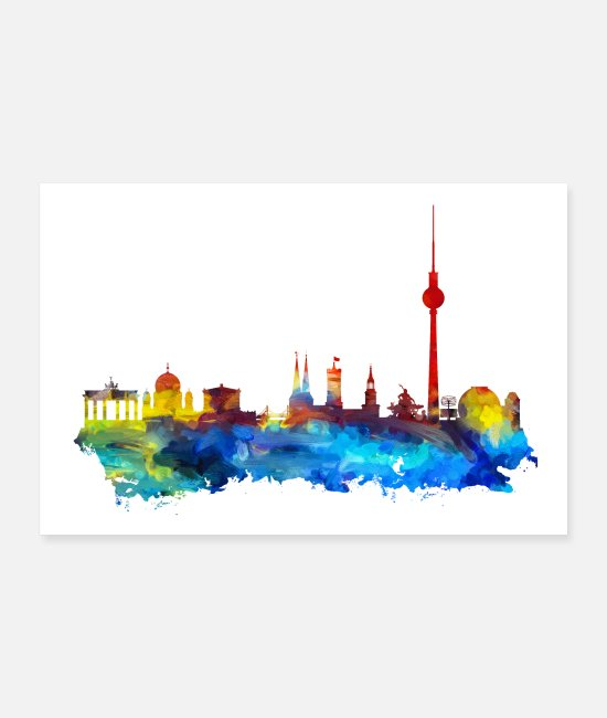 My City Posters - Berlin skyline poster - Posters white