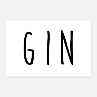 Community Easy Gin - 30x20 cm Poster
