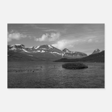 Sweden lake black white - Poster
