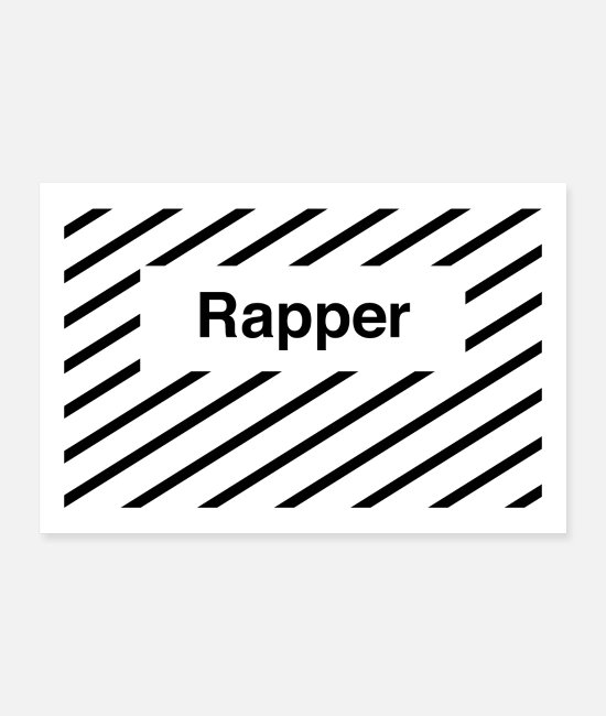Rapper Posters - Rapper - Posters white