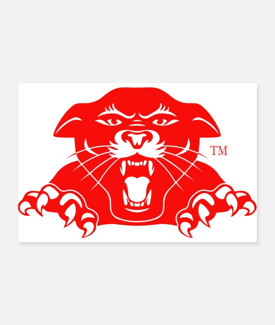 Wild Cat Posters - RED TIGER - Posters white