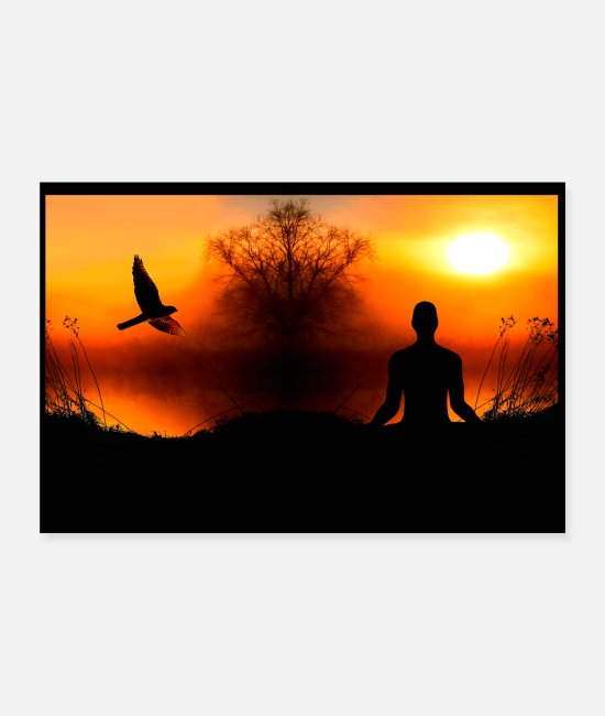 Rust Posters - Poster Natuur valk chill - meditatie - Posters wit