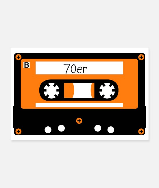 Drawing Posters - Cassette 70s - Posters white