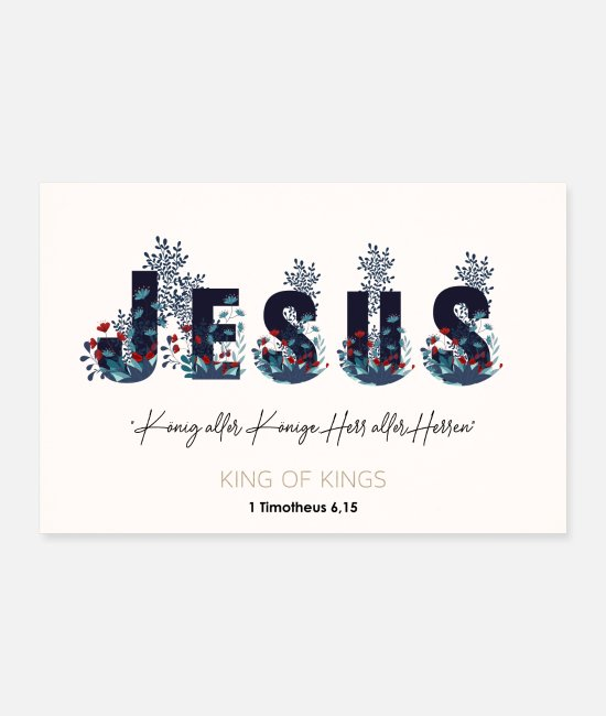 Drawing Posters - JESUS - Christian sayings & murals - Posters white