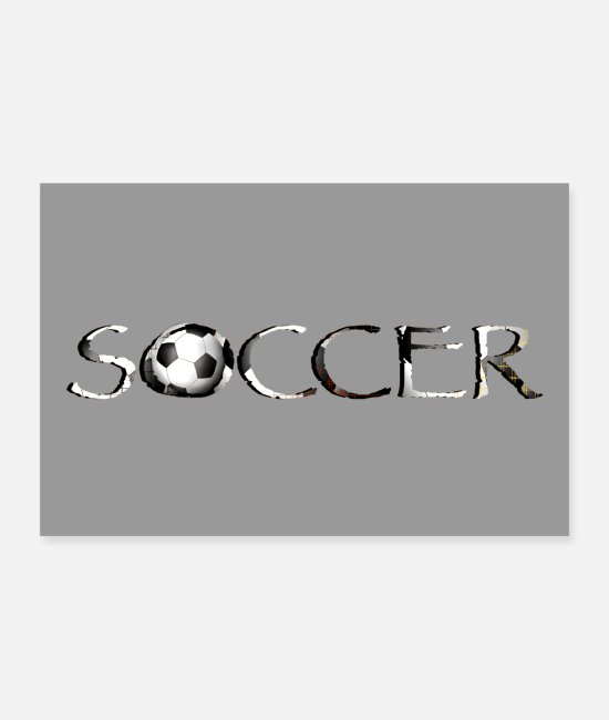National Team Posters - Soccer font Soccer - Posters white