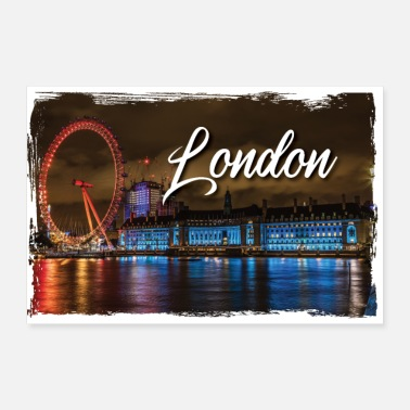 Picture London England Picture Poster Gift T-paita - Juliste