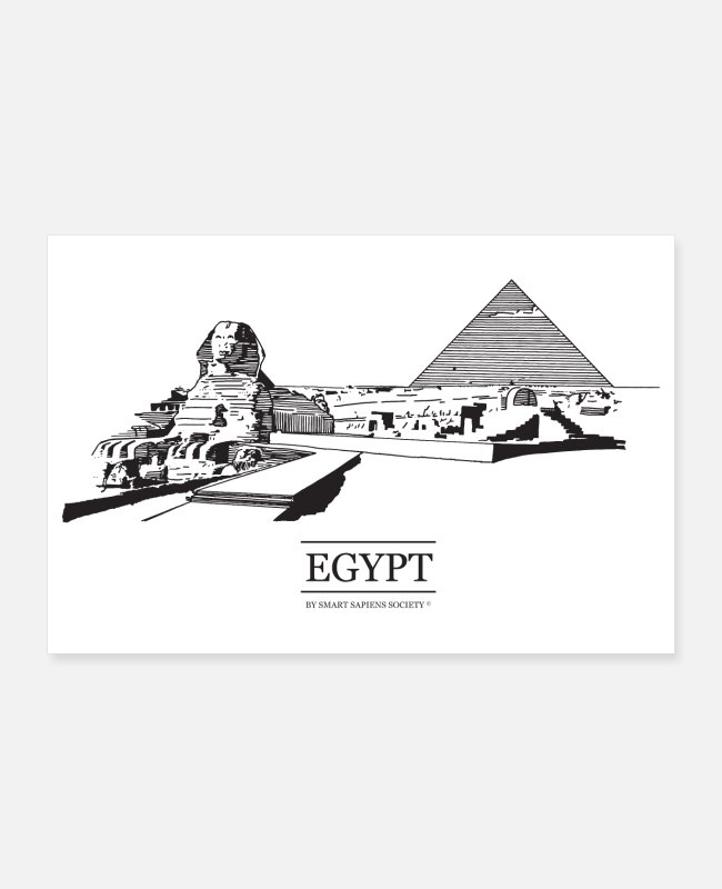Art Posters - Egypt poster on white background. - Posters white