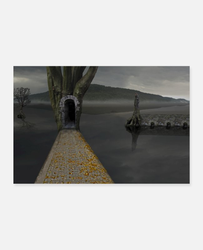 Art Posters - Poster tree water mystical fantasy composing - Posters white