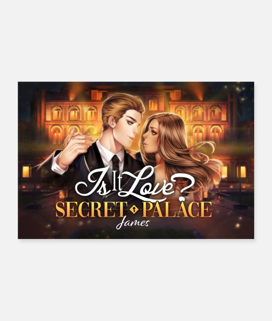 Relation Posters - Est-ce l'amour? Affiche Secret Palace James - Posters blanc