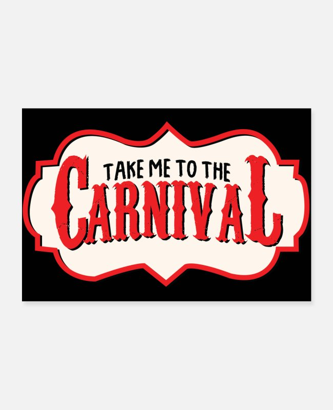 Colonia Posters - Carnival costume Shrove Monday - Posters white