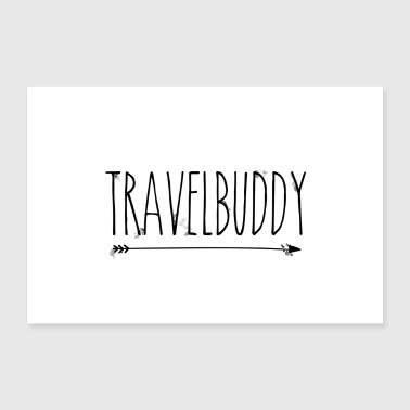Travelbuddy right - 30x20 cm Poster