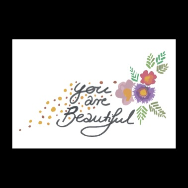 You are beautiful with flowers - 30x20 cm Poster