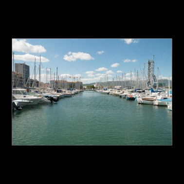 French Boat harbour - 30x20 cm Poster