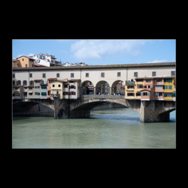 Bridges of Florence Italy - 30x20 cm Poster
