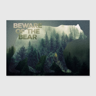 Wilderness Bears plakat - Poster 30x20 cm