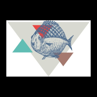 Fish triangle design - 30x20 cm Poster