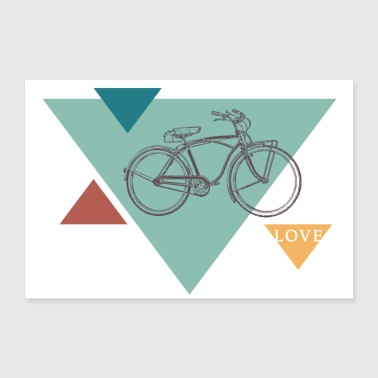 Bicycle Love - 30x20 cm Poster