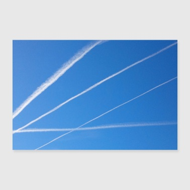 Condensation stripes in the sky - 30x20 cm Poster