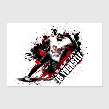 American football player - 30x20 cm Poster