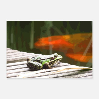 Frog Prince Frog at the pond - Poster