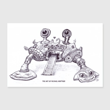 the ART of MiCHAEL KRIFTNER - crab/Krabbe - Poster 60x40 cm
