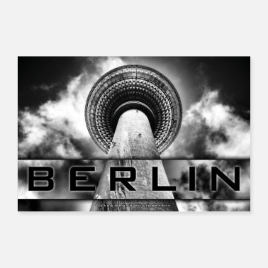 Tv Berlin TV Tower - Jeans Brown Photography - Poster 24 x 16 (60x40 cm)